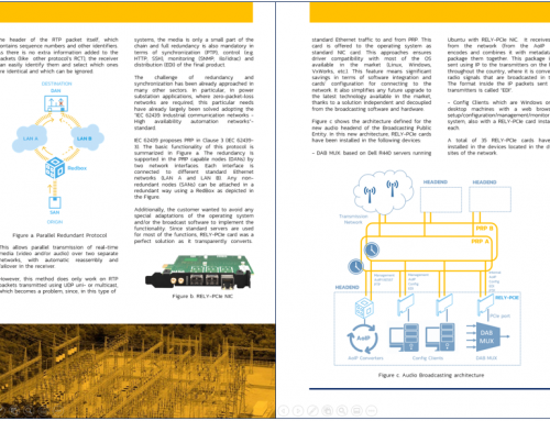 Case Study RELY-SYNC-HSR/PRP-PCIe: the solution for high-availability and sub-microsecond synchronization in Broadcasting